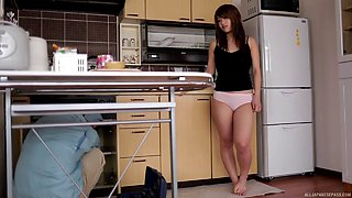 Handyman and the cute Japanese housewife fucking