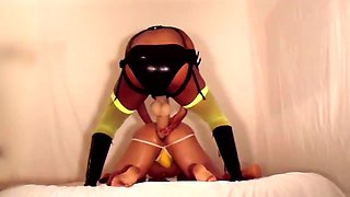Horny guy has a dominatrix punishing his ass with big toys