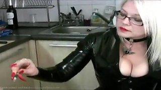 Fabulous homemade Blonde, Kitchen adult scene