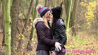 Lesbea Gorgeous European teens passionate lesbian