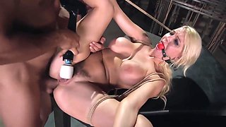 Huge Boobs Blonde Got Anal Bondage Sex