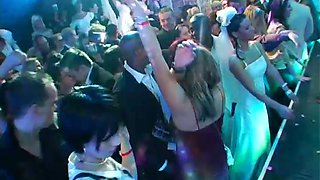 Whorish bride goes wild at the wedding party