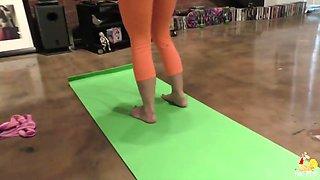 Yoga girl assfucked in POV