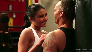 Martial art pro Adria Rae gets totally into riding her coach on top