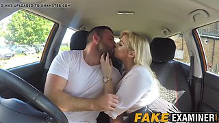 Driving examiner katy jayne fucking her big dicked student