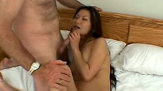 Promiscuous brunette trades oral sex for a sweet cake