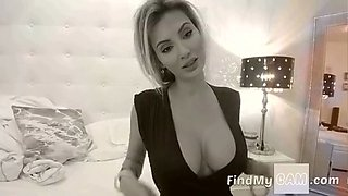Sexy mature blonde teasing and seducing on webcam
