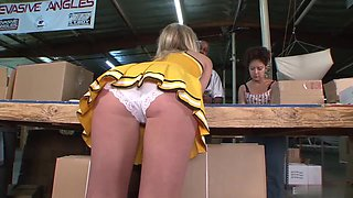 Kristie is a horny cheerleader craving to feel a black rod in her hole