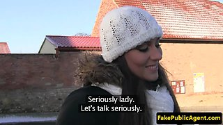 Scouted amateur eurobabe rammed in car