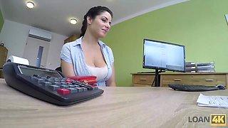 loan4k. modest brunette has dirty sex for cash in the loan agency movie