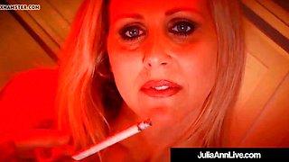 hot horny milf julia ann blows a cock & smokes a cigarette!