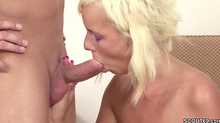 German Step Son Seduce Hairy Mom to Fuck and Lost Virgin