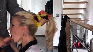 Extreme german blonde pussy gaping