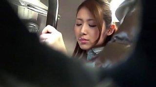 Fabulous Japanese model Riko Miyase, Natsume Inagawa, Kanon Takigawa in Horny Bus JAV clip