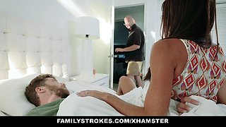 FamilyStrokes - Sweet Stepmom Fucks Son To Feel Better
