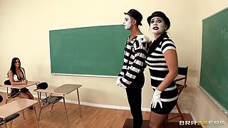 Girl Sucking Mime Teacher's Cock