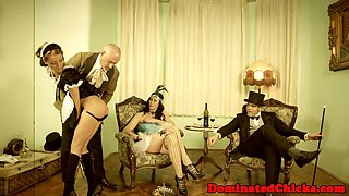 Punished vintage eurobabe gets roughfucked