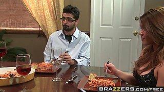 Brazzers - Real Wife Stories - Winner Winner Sex during Dinn
