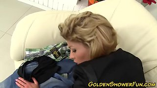 cfnm slut golden showered