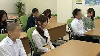 Horny Japanese whore Yuna Shiina, Hitomi Honjou in Exotic Secretary, Group Sex JAV clip