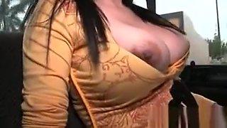Sex bus amateur hottie flashing boobs for a wild fuck
