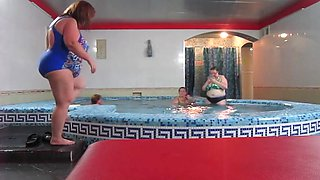 Russian in the pool in sauna in august 2017!