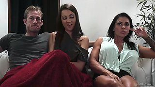 simone garza cries like a bitch as her daughter lily adams fucks her new bf