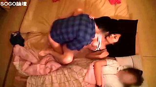 Naughty Asian girls sucking and fucking