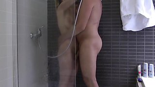 Delightful MILF Shares Shower with Her Boss On Business Trip