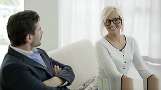 Hot Secretary Kate England Gets Anal from Client