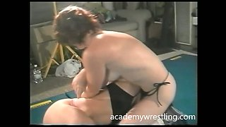 Here's another dirty topless wrestling match for your enjoyment