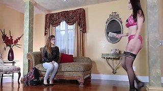 Dyked - Small Teen Worships Hot Lesbian Dominatrix