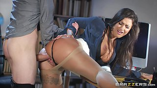 Sloppy office anal fuck with lusty secretary Susy Gala