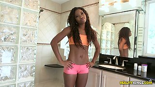 Delicious ebony ass of Mya Mays is fucked by hot tempered white guy