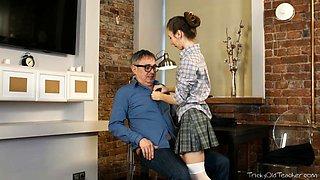 Tricky Old Teacher - Nastya's plan of flirting