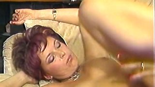 Brunette milf and her friends having wild orgy in the guestroom