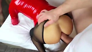 Hottest Japanese chick in Amazing Latex, Creampie JAV video